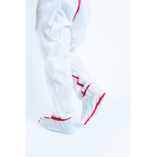 Coverall LINKMANPROTECT special asbestos with on-boots, category 3 type 5 and 6.