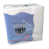 Paper napkins  33 x 33 cm - 2 layers - pure cotton - white - Parcel of 3000 units