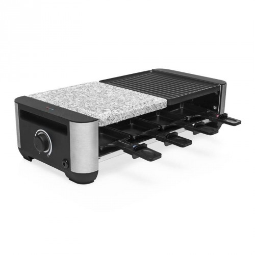 Raclette Premium Grill & Stone 8 pans - Grill plate and stone grill plate