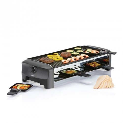 Raclette 8 Grill and Teppanyaki Party 8 pans - Duplex aluminum grill & flat plate