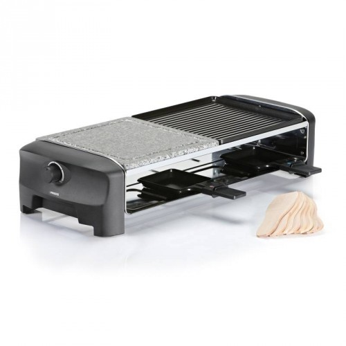 Raclette 8 Stone & Grill Party 8 pans - Duplex grill plate & stone grill