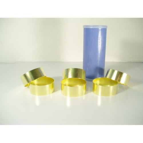 "Brass Liner 2.5"" x 1.0"" (6 ring canister)/Box of 60"