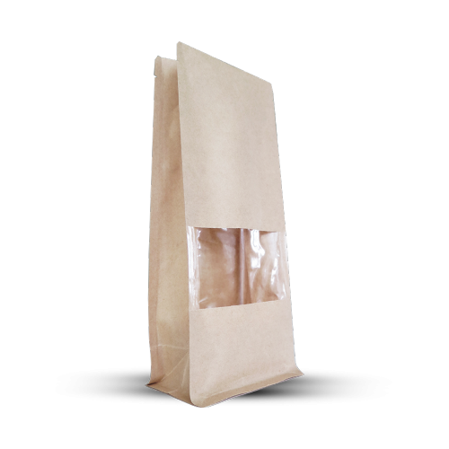 Kraft bag with small transparent window (pack of 1000 pieces)