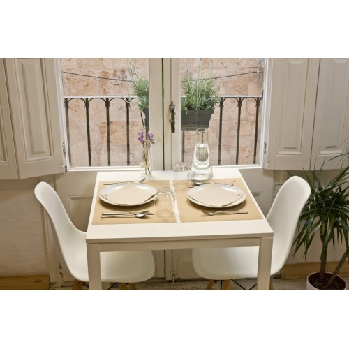 Serviette point à point pliage - 40 x 40 NATURE (beige)      - Vendu par 1600 unités