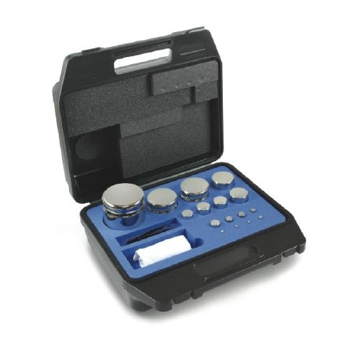 E2 1 g -  1 kg Set of weights in plastic case, Stainless steel - Brand Kern Ref 312-064