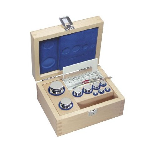 E2 1 mg -  50 g Set of weights in wooden box, Stainless steel - Brand Kern Ref 313-02