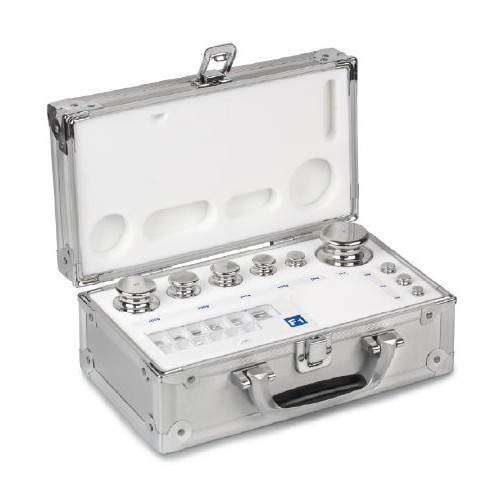F2 1 mg -  200 g Set of weights in aluminium case, Finely turned stainless steel - Brand Kern Ref 333-046