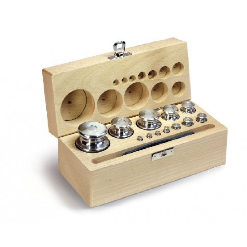 F2 1 mg -  500 g Set of weights in wooden box, Finely turned stainless steel - Brand Kern Ref 333-05