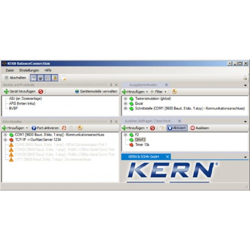 Software Balance Connection 4 PRO for KERN balances, as download - Brand Kern Ref SCD-4.0-PRO-DL