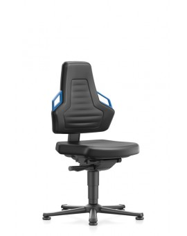 Nexxit on glides, handles sitting height of 450-600 mm, Upholsterys black Artificial leather, Ref: 9030-MG01