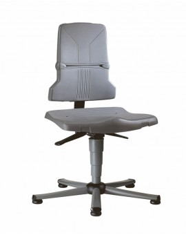 Sintec on glides, seat height of 430-580 mm, the seat and backrest in standard polypropylene, Ref: 98-1000