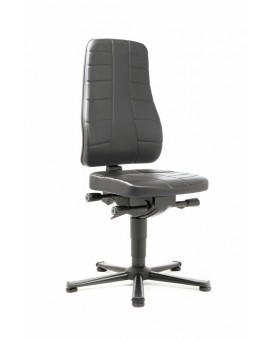 All-In-One Highline on glides, seat height of 450-600 mm, upholstery Artificial leather, Ref: 9640
