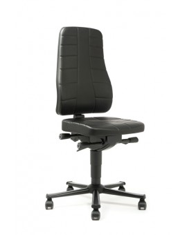 All-In-One Highline on castors, seat height of 450-600 mm, upholstery Artificial leather, Ref: 9643