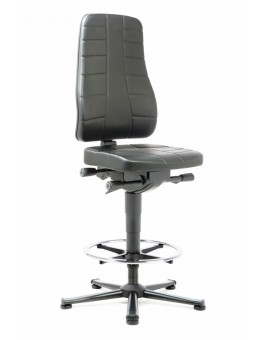All-In-One Highline on glides with footrest, seat height of 570-830 mm, upholstery Artificial leather, Ref: 9641