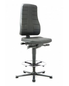 All-In-One Highline on glides with footrest, seat height of 570-830 mm, upholstery of integral foam, Ref: 9641