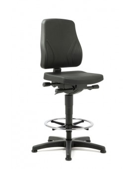 All-In-One Trend on glides with footrest, seat height of 570-830 mm, upholstery Artificial leather, Ref: 9631