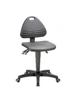 Isitec on castors, seat height of 430-600 mm, upholstery of integral foam, Ref: 9608