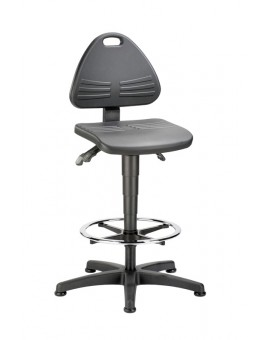 Isitec on glides with footrest, seat height of 580-850 mm, upholstery of integral foam, Ref: 9613