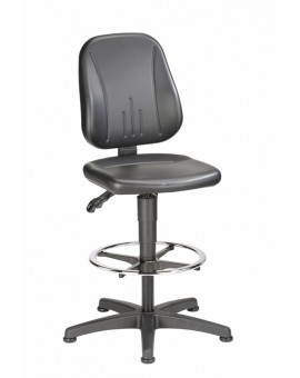 Unitec on glides with footrest, seat height of 580-850 mm, upholstery Artificial leather, Ref: 9651