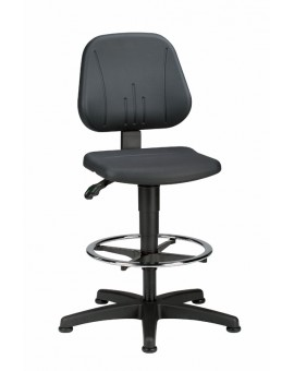 Unitec on glides with footrest, seat height of 580-850 mm, upholstery of integral foam, Ref: 9651