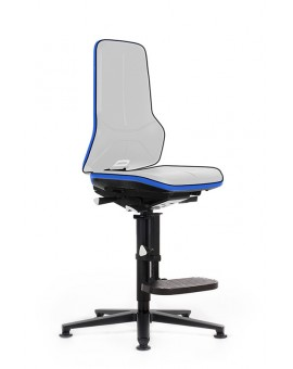 ESD Neon on glides with floorboards with mechanical synchrome, seat height of 590-870 mm, without Upholstery, Ref: 9571E