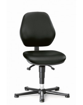 Basic ESD glides, seat height of 470-610 mm, upholstery Artificial leather, Ref: 9150e