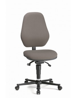 Basic ESD on castors, seat height of 470-610 mm, upholstery fabric, Ref: 9155E