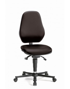 Basic ESD on castors, seat height of 490-630 mm, upholstery Artificial leather, Ref: 9158E