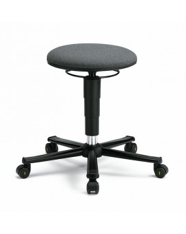 ESD stool on castors, seat height of 460-630 mm, upholstery fabric, Ref: 9468E