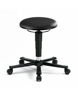 ESD stool on castors, seat height of 460-630 mm, upholstery Artificial leather, Ref: 9468E