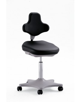 Labster on castors, seat height of 450-650 mm, upholstery Artificial leather, Ref: 9103