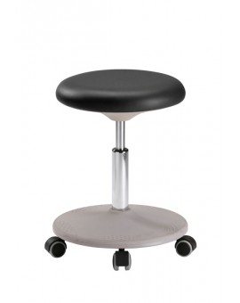 Labster stool on castors, seat height of 450-650 mm, upholstery of integral foam, Ref: 9107