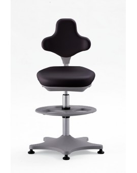ESD Labster on glides with footrest, seat height of 550-800 mm, upholstery Artificial leather, Ref: 9101E