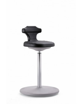 ESD Labster sit-stand, seat height of 650-850 mm, integral foam Upholstery, Ref: 9106E