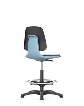 Labsit on glides with footrest, seat height of 520-770 mm, cloth, colored seat shell, Ref: 9121