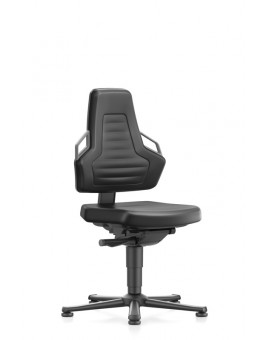 Nexxit on glides, handles sitting height of 450-600 mm, black integral foam Upholstery, Ref: 9030-2000