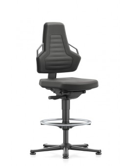 Nexxit on glides with footrest, seat height handles 570-820 mm, black Upholstery Supertec, Ref: 9031-SP01