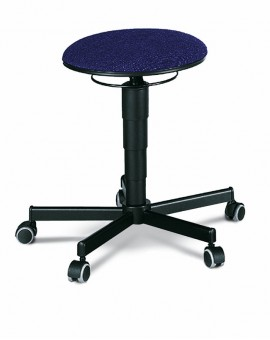 Stool on castors, seat height of 460-630 mm, upholstery fabric, Ref: 9468
