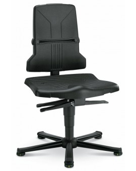 ESD Sintec on glides, seat height of 430-580 mm, the seat and backrest in standard polypropylene, Ref: 98E-1100