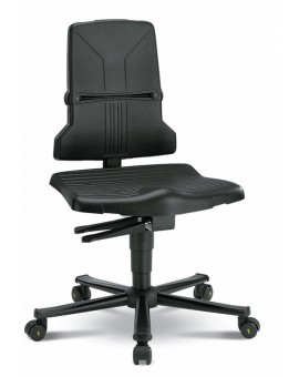 ESD Sintec on castors, seat height of 430-580 mm, the seat and backrest in standard polypropylene, Ref: 98E-1100