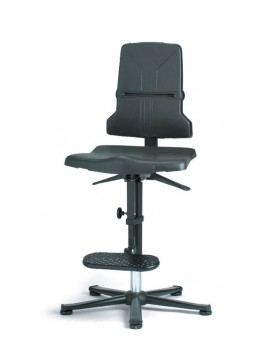 ESD Sintec glides with steps, seat height of 580-850 mm, the seat and backrest in standard polypropylene, Ref: 98E-1100