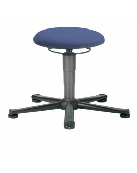 ESD stool on glides, seat height of 460-630 mm, upholstery fabric, Ref: 9467E