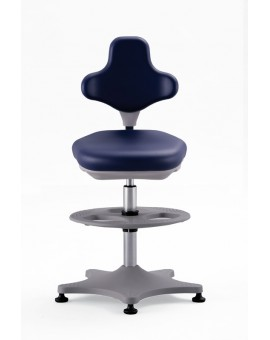Labster on glides with footrest, seat height of 550-800 mm, upholstery Artificial leather, Ref: 9101