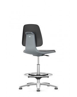 Labsit on glides with footrest, seat height of 520-770 mm, cloth, colored seat shell, Ref: 9121-525