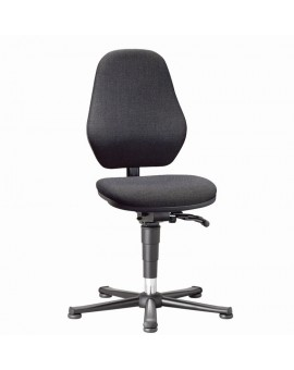 Basic laboratory on glides, seat height of 490-630 mm, upholstery fabric, Ref: 9135