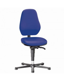 Laboratory Basic on glides, seat height of 490-630 mm, upholstery Artificial leather, Ref: 9135