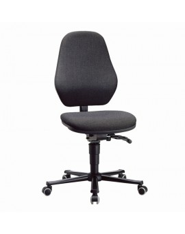 Basic laboratory on castors, seat height of 470-610 mm, upholstery fabric, Ref: 9134