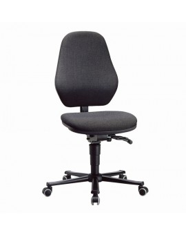 Basic laboratory on castors, seat height of 490-630 mm, upholstery fabric, Ref: 9138