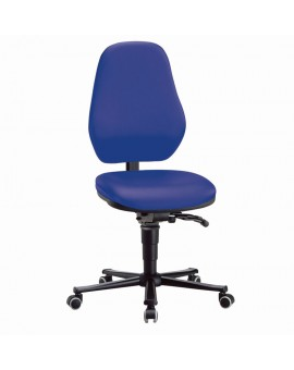 Basic laboratory on castors, seat height of 490-630 mm, upholstery Artificial leather, Ref: 9138