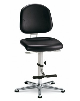 Cleanroom Plus glides with steps, seat height of 630-890 mm, upholstery Artificial leather, Ref: 9183